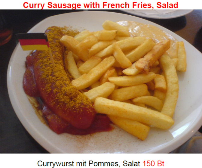 Currywurst and fries – a classic sausage dish