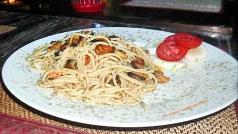 spaghetti,mussels,seafood,maephim,laemmaephim,eminor,Klaeng,Thailand